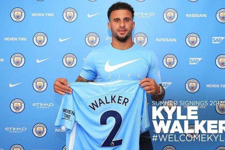 Kyle Walker fue anunciado con el Manchester City en sus redes sociales. (Foto Prensa Libre: @ManCity)
