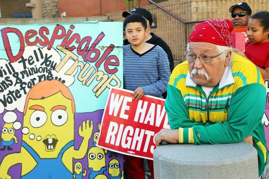Protestas contra Trump en Phienix. (AP)