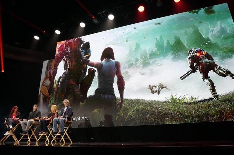 Diseñadores presentan Anthem, uno de los títulos que más llamó la atención en el pasado E3 (Foto Prensa Libre: EFE).