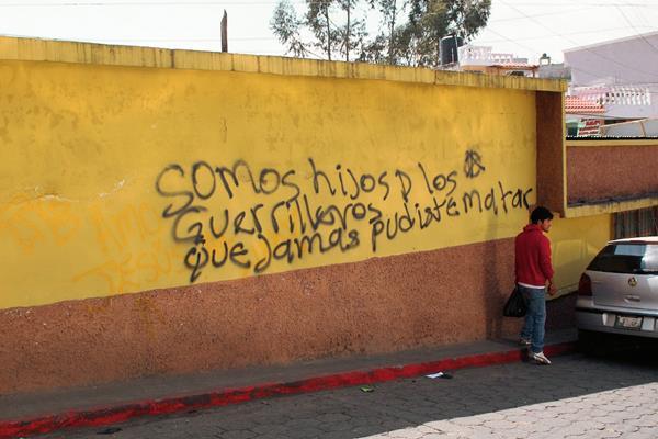 Pintas afectan inmuebles en San Marcos. (Foto Prensa Libre: Aroldo Marroquín)