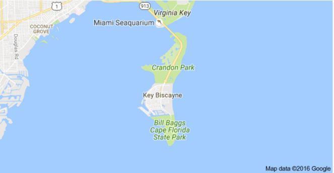 La propiedad, ubicada en Cayo Vizcaino, en el sur de Miami Beach, está valorada en más de dos millones de dólares. (Foto: Google Maps).