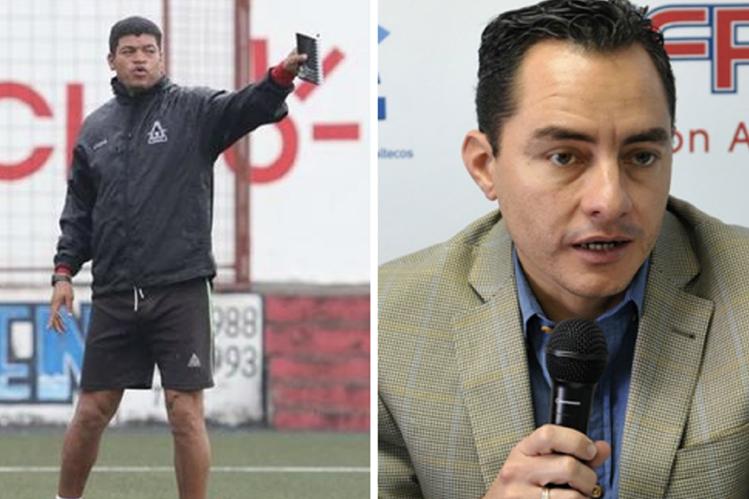 Ronald Gómez entrenador de Malacateco arremetió contra Carlos Figueroa, secretario del Sifupgua. (Foto Prensa Libre: Hemeroteca PL)