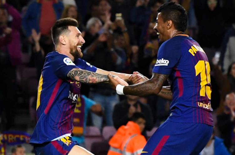 """Paulinho considera que a Messi solo hay que pasarle el balón. """"El argentino sabe qué hacer con la pelota"""". (Foto Prensa Libre: Hemeroteca PL)"""