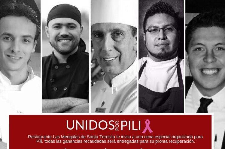 Jorge Peralta, Eduardo González, Jorge Urízar, Mario Godínez y Mario Campollo participarán en la cena benéfica. (Foto Prensa Libre: Cortesía)