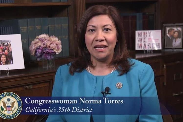 Norma Torres, de origen guatemalteco, es una de las congresistas estadounidenses es que ha expresado en todo momento su apoyo a la Cicig. (Foto: Hemeroteca PL)