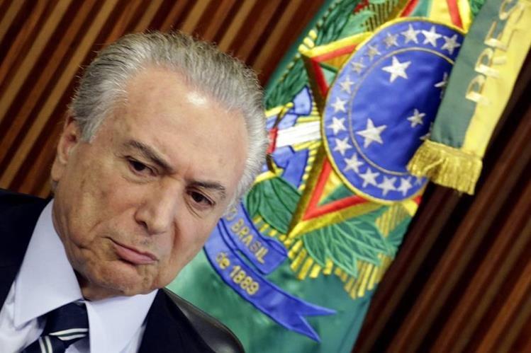 Wikileaks revela reunión de Michel Temer, presidente interino de Brasil, con funcionarios de EE. UU. (Foto Prensa Libre: EFE).