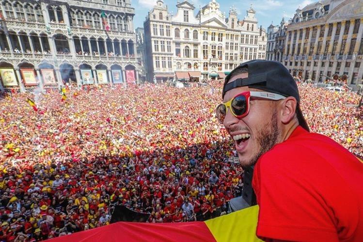 Eden Hazard, jugador del Chelsea y de Bélgica. (Foto Prensa Libre: AFP)
