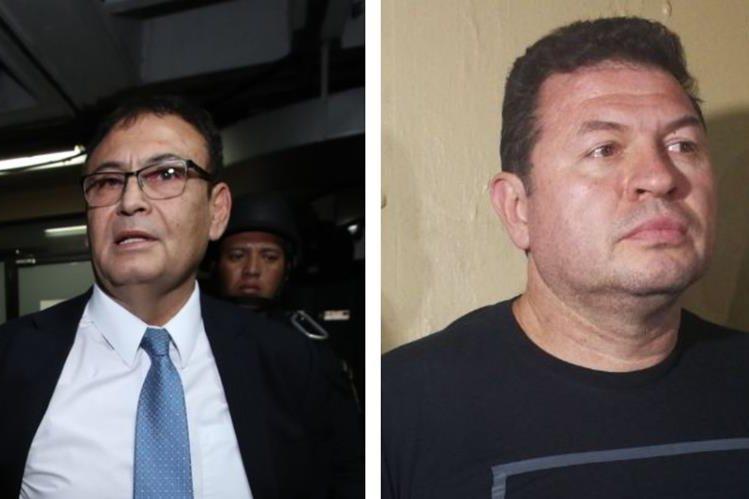 El magistrado Giovanni Orellana Donis Sergio y Roberto López Villatoro, conocido como el Rey del Tenis, fueron capturados este viernes. (Foto HemerotecaPL)