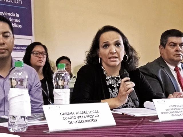 Violeta Mazariegos, de la PDH, ejemplificó que el fideicomiso de Fonades, que entregaba fertilizantes, cerró su UIP cuando todavía administraba recursos. (Foto Prensa Libre: Cortesía PDH)