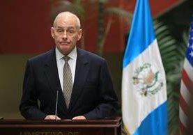 Secretario de Seguridad Nacional visita Guatemala para abordar temas de seguridad y migrantes. (Foto Prensa Libre: Esbin García)