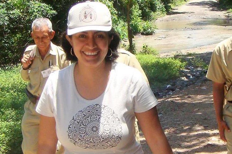 Saida Chanquín, entomóloga.