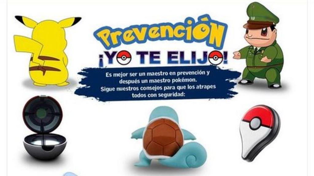 Maestro en prevención, maestro en Pokémon. (CARABINEROS DE CHILE)