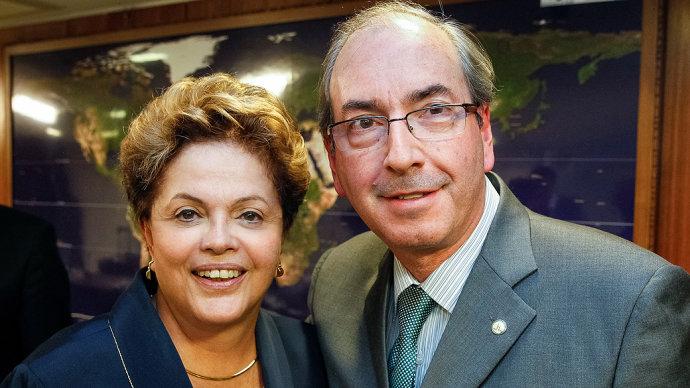 Dilma Rousseff y Eduardo Cunha son señalados en desvío. (Foto del sitio diariobae.com)