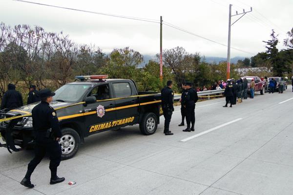 Emilio Noj  Cutzal, propietario  de los transportes Araceli murió en Tecpán Guatemala, Chimaltenango. (Foto Prensa Libre: José Rosales)
