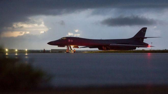 Estados Unidos llevó bombarderos de Guam y Japón para volar cerca de la costa este de Corea del Norte. COMANDO DEL PACÍFICO DE ESTADOS UNIDOS