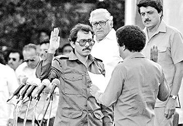 Ortega cuando llegó al poder por primera vez en la década de 1980.