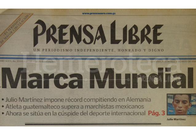 La noticia del logro de Martínez en Alemania tuvo repercusión nacional y mundial. (Foto: Hemeroteca PL)