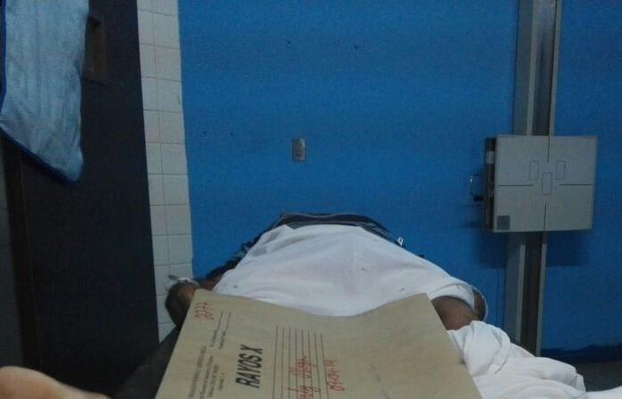 Marco Baudilio Godoy Trujillo recibe atención médica en un hospital de El Progreso. (Foto Prensa Libre: Cortesía)