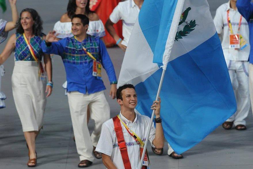 Delegación guatemalteca en la ceremonia de inauguración de los Juegos Olímpicos de Pekín 2008. (Foto: AFP)
