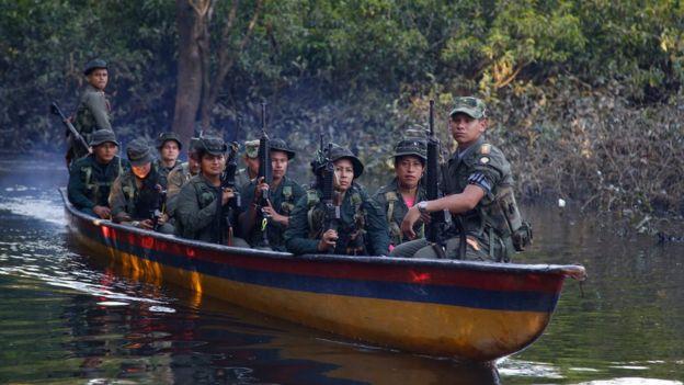 Las Farc combatían contra el ejército de Colombia pero también contra grupos paramilitares.(AP).