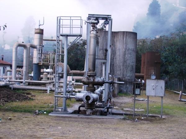 Vista la planta geotérmica en Zunil, Quetzaltenango.
