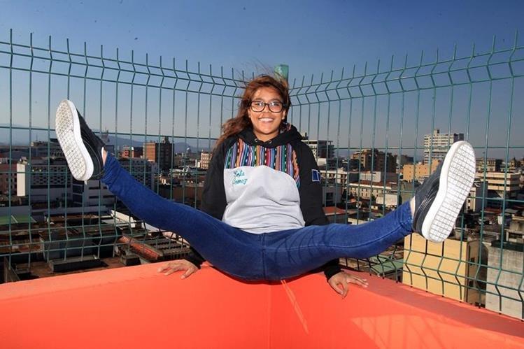 La gimnasta guatemalateca Ana Sofía Gómez confesó estar feliz por su decisión de retirarse como atleta. (Foto Prensa Libre: Carlos Vicente)