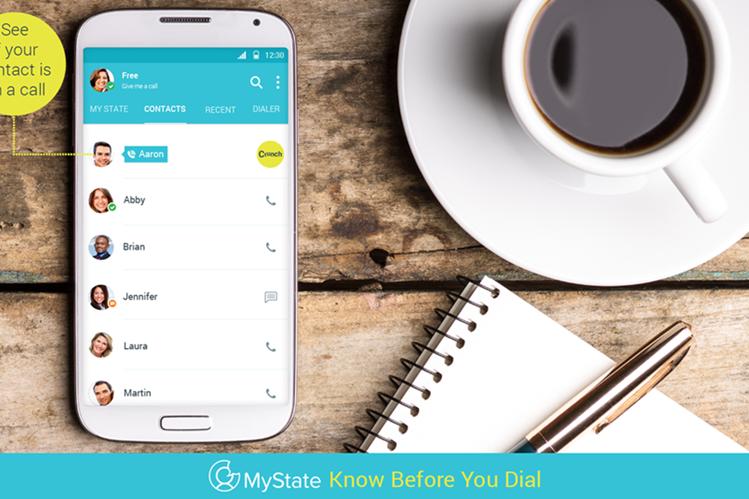 MyState le indica si la otra persona está disponible para llamarla