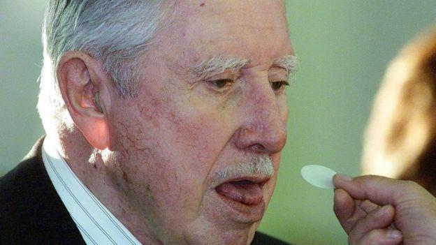 Pinochet contaba con el apoyo de un sector de la iglesia. (AFP)