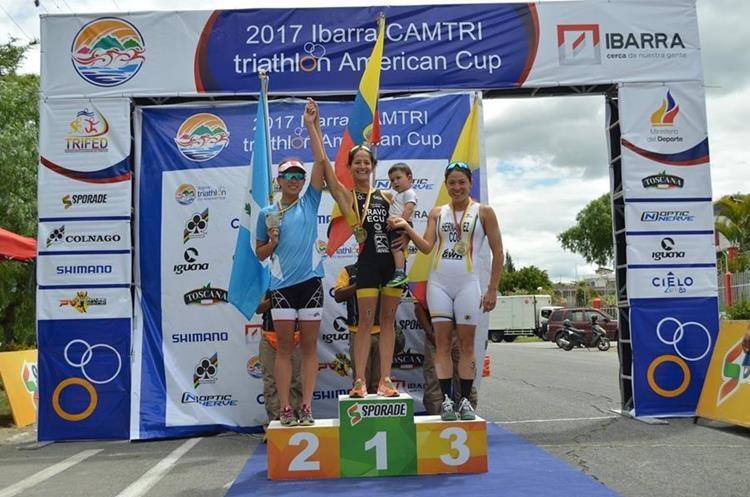Schoenfeld  conquistó hace poco la medalla de plata en la Copa Americana de Triatlón, en Ecuador. (Foto Prensa Libre).