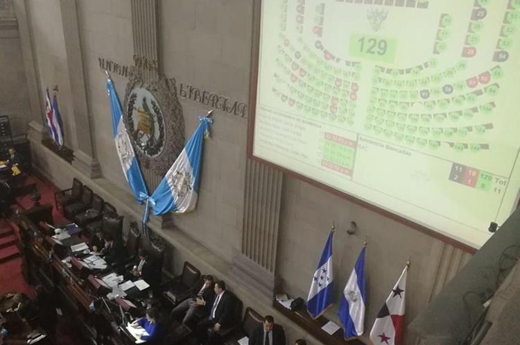 La 61 sesión ordinaria que conoció informe circunstanciado sobre antejuicio en contra del presidente Jimmy Morales. (Foto Prensa Libre: Esbin García)