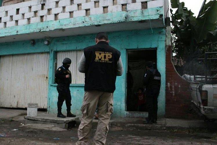 Operativos contra secuestradores en distintas áreas de Villa Nueva. (Foto Prensa Libre: MP)