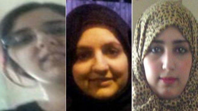 Las tres hermanas que con sus hijos viajaron hacia Turquía y luego a Arabia Saudí, las autoridades creen que podrían haberse unido al Estado Islámico. (Foto: theguardian.com).