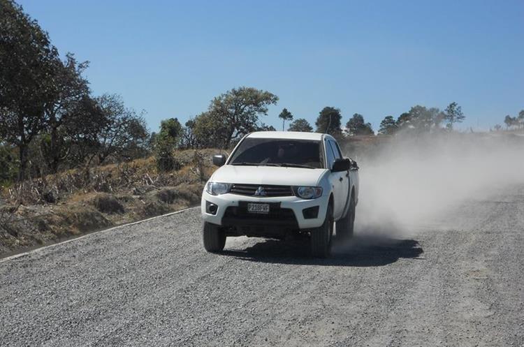 Las carreteras en Quiché se encuentran en mal estado. (Foto Prensa Libre: Héctor Cordero)