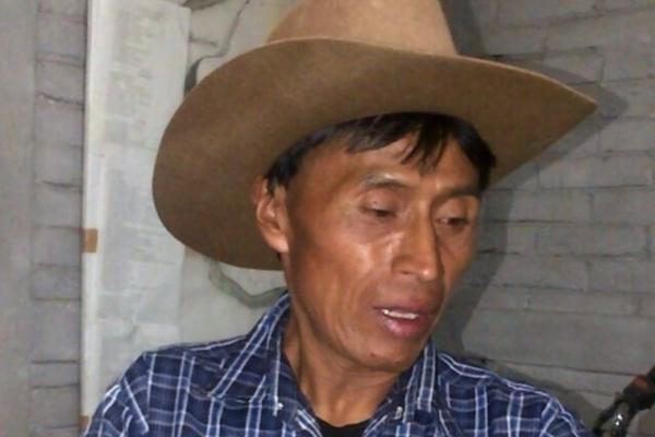 josé Matías Olmos, de 50 años, fue capturado en San Andrés Sajcabajá, Quiché, señalado de dar muerte a su cónyuge en estado de gestación. (Foto Prensa Libre: Óscar Figueroa)
