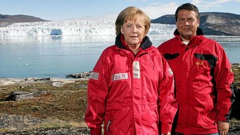 Angela Merkel junto a Sigmar Gabriel. (Foto Prensa Libre: internet)