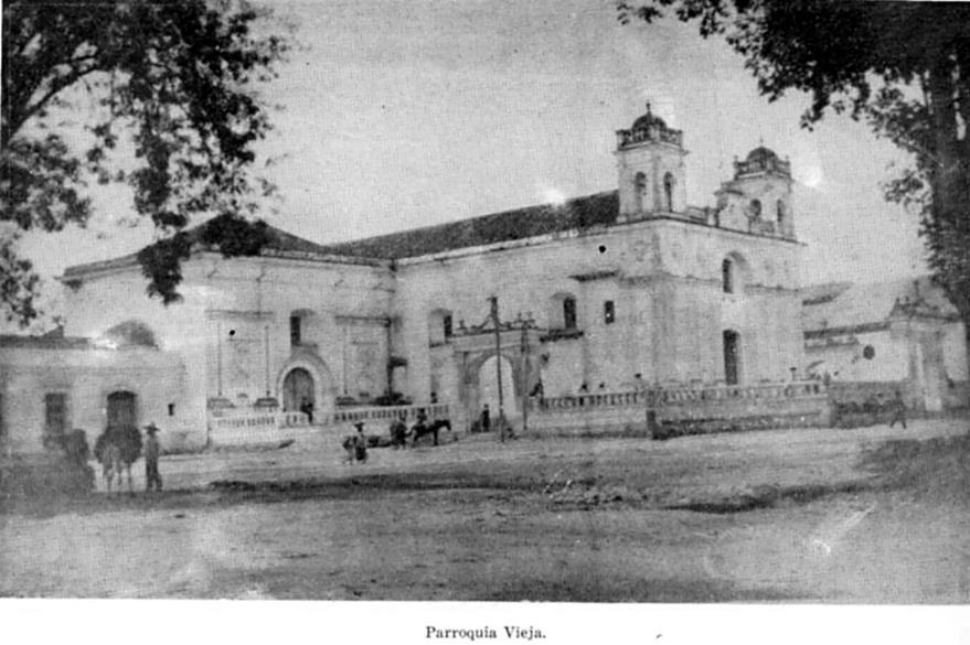 Imagen de la parroquia vieja, zona 6, ahora conocida como parroquia Santa Cruz del Milagro. (Foto Prensa Libre: Hemeroteca)