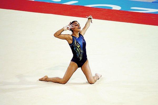 Ana Sofía Gómeez durante su presentación en piso. (Foto Prensa Libre: Cortesía COG)