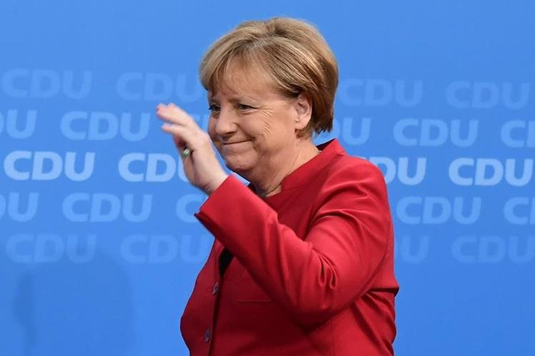 Ángela Merkel, canciller alemana, va por un cuarto mandato. (Foto Prensa Libre: AFP)
