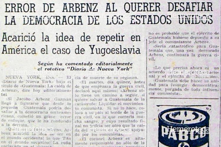 Nota del 30 de junio de 1954 donde se reproducía el editorial. (Foto: Hemeroteca PL)