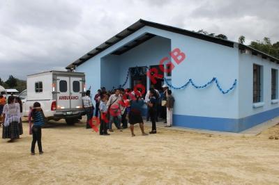 Puesto de Salud que fue inaugurado en El Chal. (Foto Prensa Libre: Walfredo Obando)