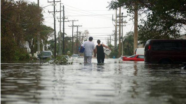 Wilma castigó zonas de Luisiana que ya habían sufrido los estragos de Katrina, pero también el estado de Florida. JOSH RITCHIE/GETTY