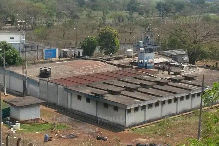 Área donde se registran los incidentes en la cárcel de El Infiernito. (Foto Prensa Libre: Enrique Paredes).