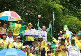 Los aficionados de Guastatoya llenan de alegría el David Cordón Hichos.