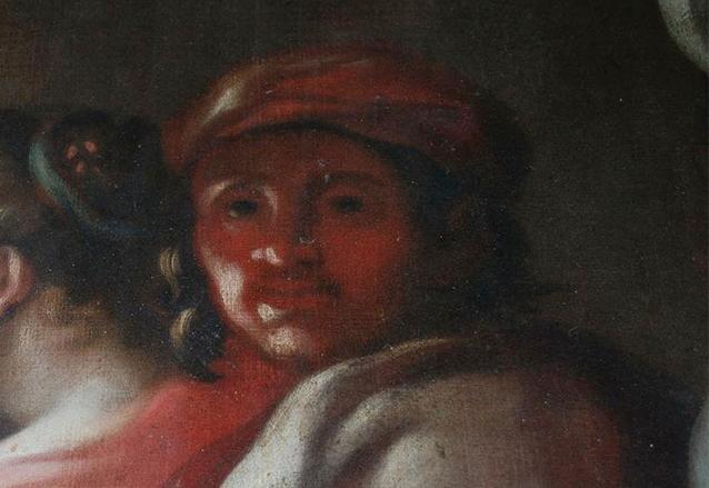 Autorretrato de Tomás de Merlo, detalle de la obra Cristo ante Caifás. (Foto: Hemeroteca PL)