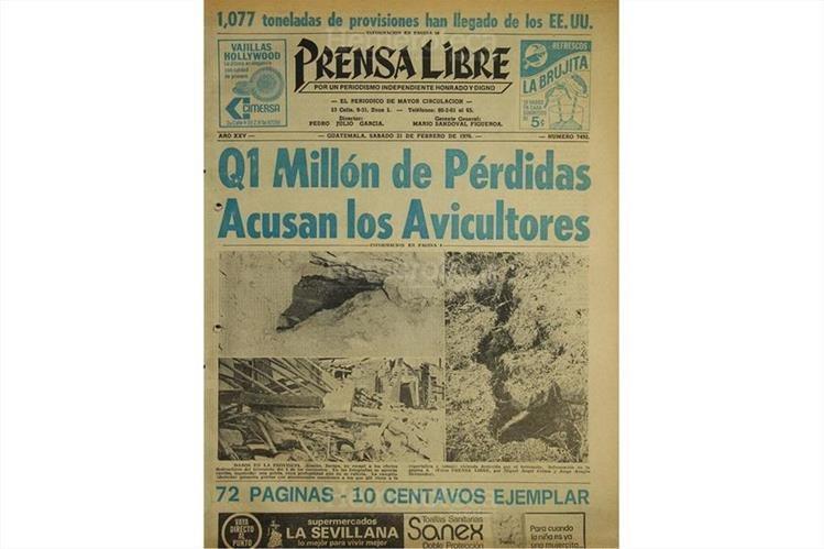 Terremoto en Guatemala, el 4 de febrero de 1976. (Foto: Hemeroteca PL)