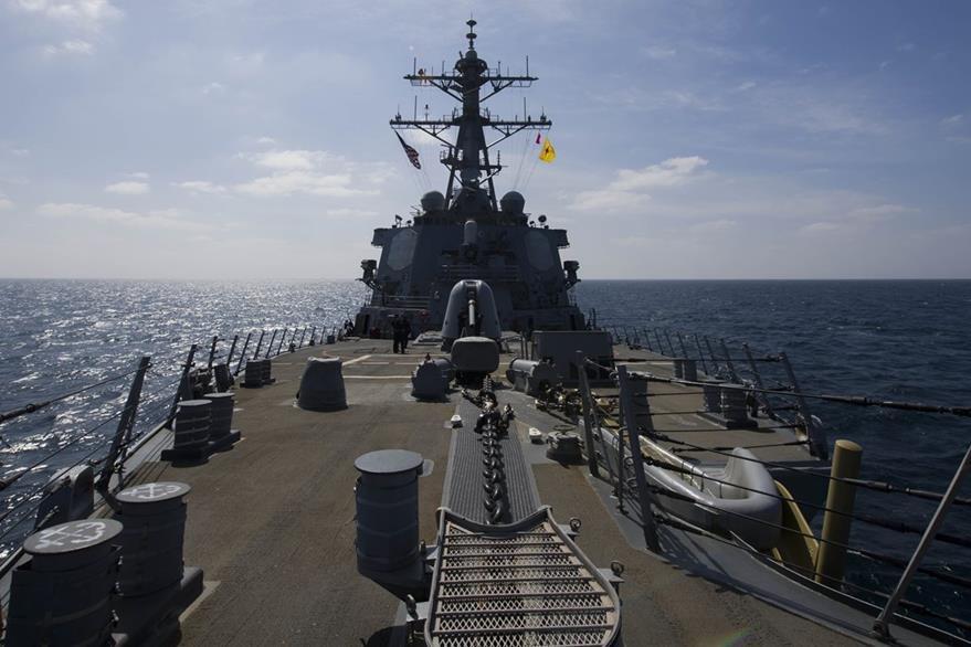 Fuerzas de EE. UU. observan de cerca pruebas de Irán. (Foto Prensa Libre: AFP)