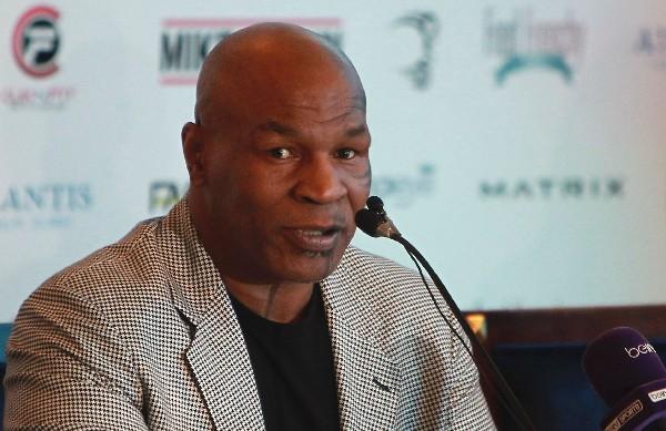 Mike Tyson anunció la creación en Dubái de su academia. (Foto Prensa Libre: AFP).