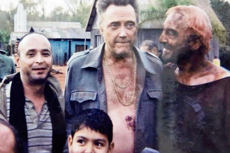 Darío Paz, junto a Christopher Walken —centro—, protagonista de El Tesoro del Amazonas.