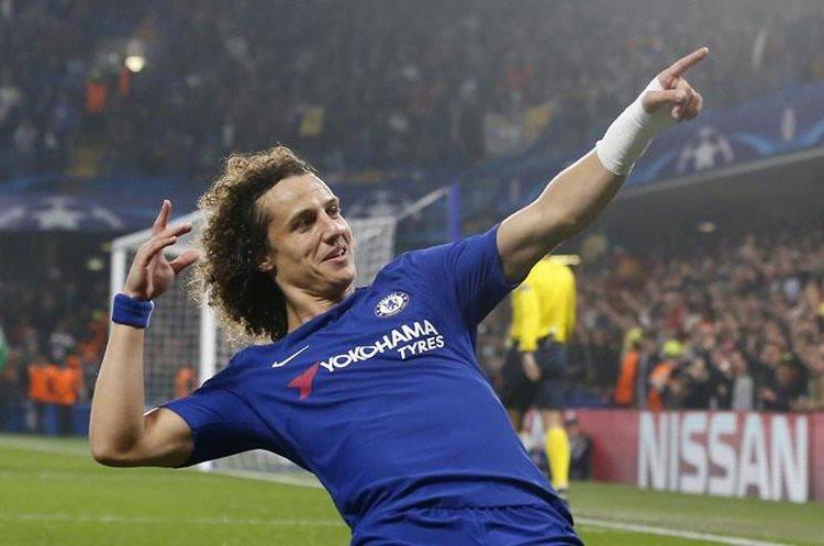 Así festejó David Luiz el gol que anotó para el Chelsea en el 1-0.
