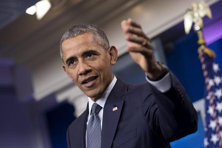 El presidente estadounidense, Barack Obama, ofrece una rueda de prensa sobre economía en la Casa Blanca, Washington, donde se refirió al proceso electoral de EE. UU. (Foto Prensa Libre: EFE).